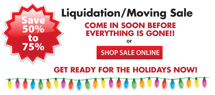 Lighting Moving and Liquidation Sale